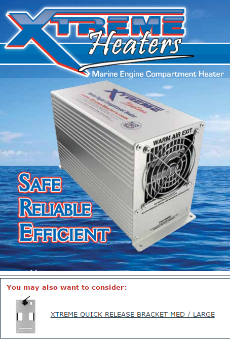 XTREME BILGE HEATERS, 300 450 600 WATT